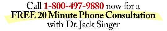 Free 20 Minute Telephone Consultation with Psychologist Dr. Jack Singer